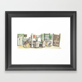 Grandmother's living room Framed Art Print