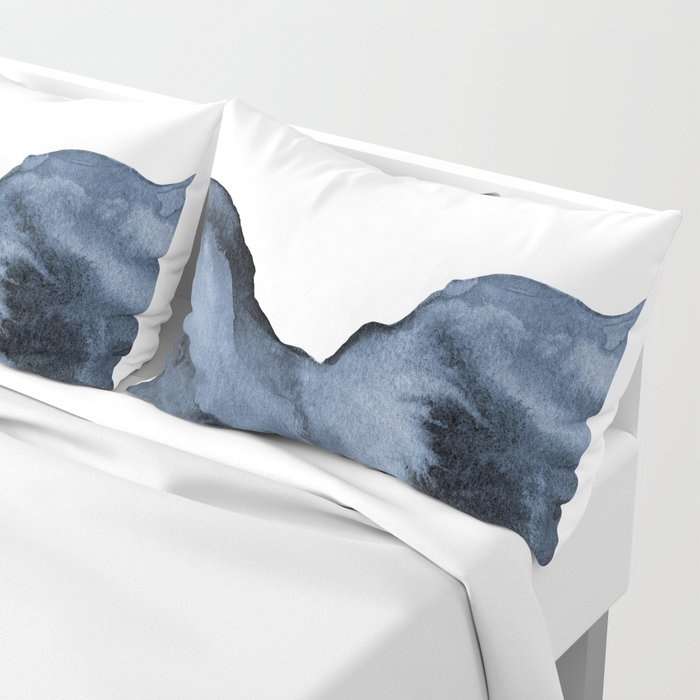 Watercolor Splash in Blue Pillow Sham