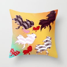 Dancing Fishes II Throw Pillow