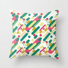 Bubble Pop Anza Evergreen Throw Pillow
