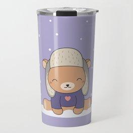 Kawaii Cute Winter Bear Travel Mug