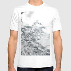 black and white fooliage MEDIUM White Mens Fitted Tee