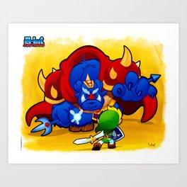 8-Bit Madnss Legend of Zelda Art Print