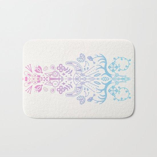 La Vie + La Mort: Rose Quartz & Serenity Ombré Bath Mat