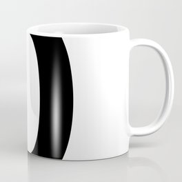 Number 0 (Black & White) Coffee Mug