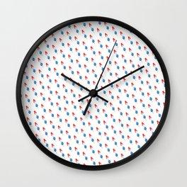 Popsicle Pattern - Slanted Rocket Pop #102 Wall Clock