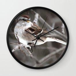 Little friend winter Wall Clock