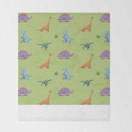 Skating Dino's Throw Blanket