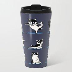 Husky Yoga Metal Travel Mug