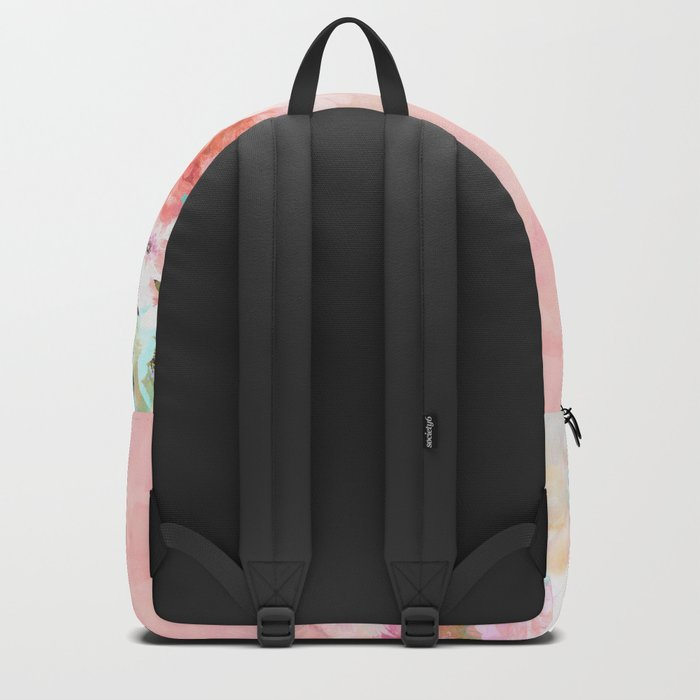 Modern blush watercolor ombre floral watercolor pattern Backpack