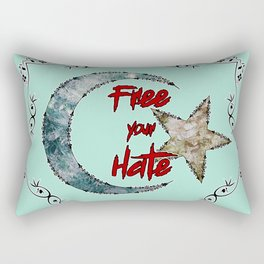 Free your Hate Rectangular Pillow