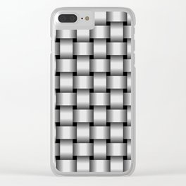 Pale Gray Weave Clear iPhone Case