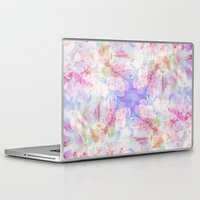 transparent Laptop & iPad Skins featuring TRANSPARENT VEILS by VIAINA