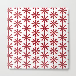 The Simple But Very Red Flower Metal Print