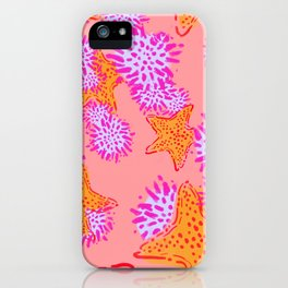 Starfish & Sea Urchins pink iPhone Case