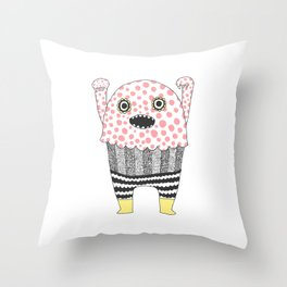 The Corner Monster Series Throw Pillow