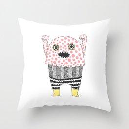 The Corner Monster Series Throw Pillow