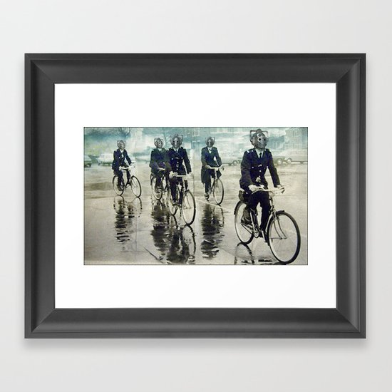 Cybermen on patrol Framed Art Print