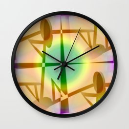 Pattern after earthquake ... Wall Clock