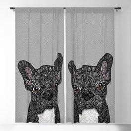 Black Frenchie 001 Blackout Curtain