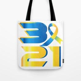 Down Syndrome Awareness 21 Tote Bag