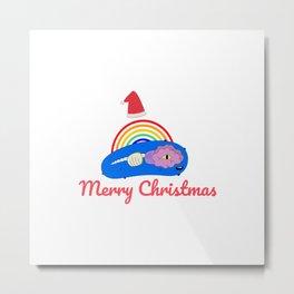 Merry Christmas - Positive Energy Rainbow Metal Print
