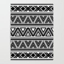 Aztec Ethnic Pattern Art N3 Poster