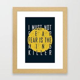 Dune - The Litany Against Fear (WHT) Framed Art Print