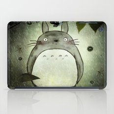 Totoro in the rain iPad Case