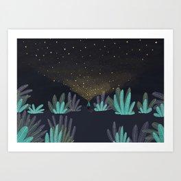 One million little lights for a million dreams Art Print