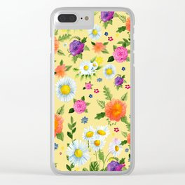 Yellow Daisy with friends Clear iPhone Case