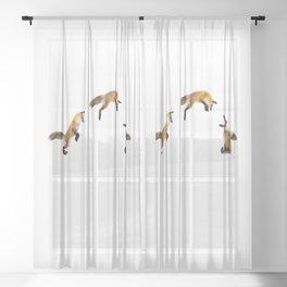 Fox Snow Jump Sheer Curtain