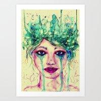 goddess Art Prints featuring Goddess by Misrella