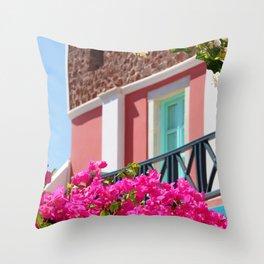 Lovely Santorini Throw Pillow