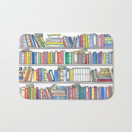 Colorful Bookcase Bath Mat