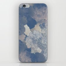 Airforce Blue Floral Hues  iPhone Skin