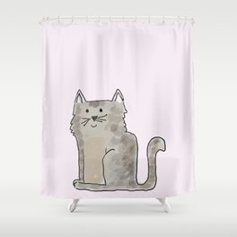 Cute and lovely cat Lupita Shower Curtain
