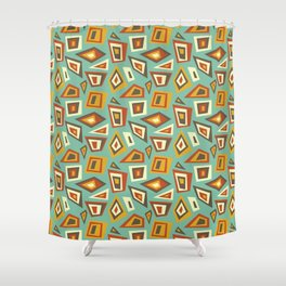 African Abstract Geometric Retro Shower Curtain
