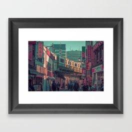 TOKYO TRAIN 03 Framed Art Print