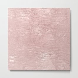 Metallic Rose Gold Blush Metal Print