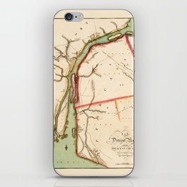 Map Of The Detroit River 1813 iPhone Skin