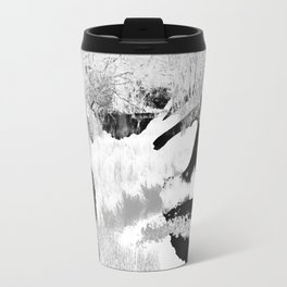 Stag in the shadows Travel Mug