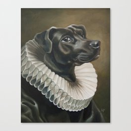 Portrait of a Young Doggo Canvas Print