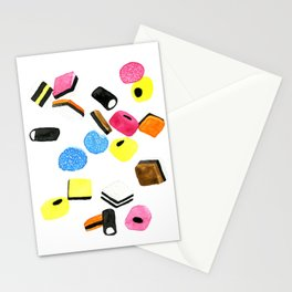 Watercolor Licorice Candy Sweets Stationery Cards