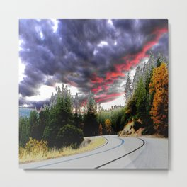 Trippin' down the mountain highway Metal Print