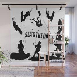 Seas The Day Kitesurfing Wall Mural