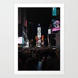time square rush Art Print