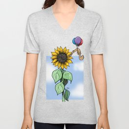 Floating toward a dream Unisex V-Neck