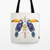 toucan Tote Bags featuring toucan by Manoou