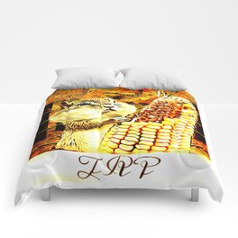A Squirrel and a Corn Cob 01 Comforters